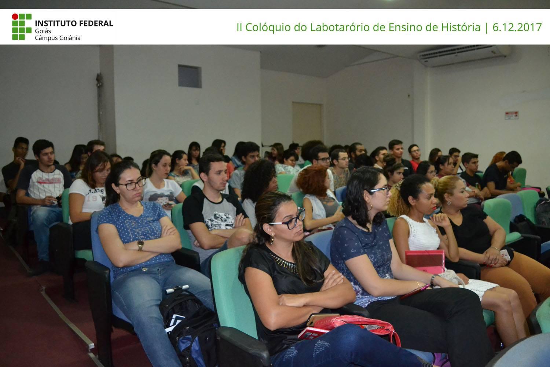 Atividade do II Colóquio do Laboratório do Ensino de História, 06/12/2017.
