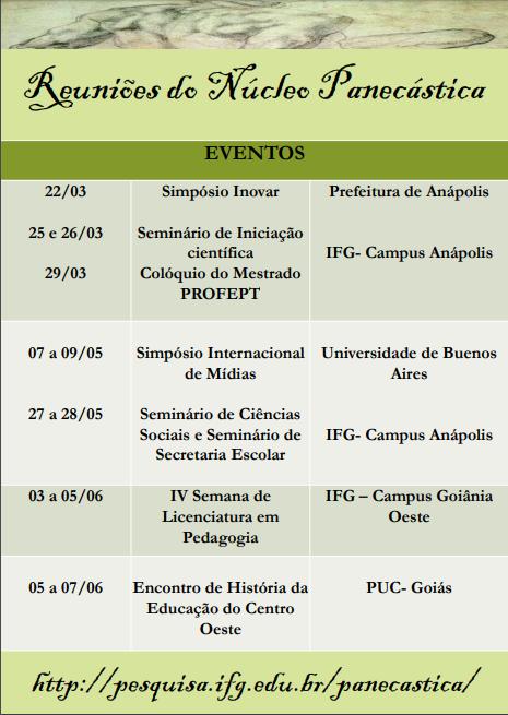 Eventos do Grupo Panecastica – 1° Semestre de 2019.